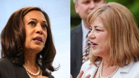 Kamala Harris y Loretta Sánchez se enfrentarán por un puesto en el Senado
