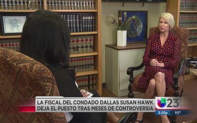 Susan Hawk renuncia a su cargo como fiscal del condado de Dallas