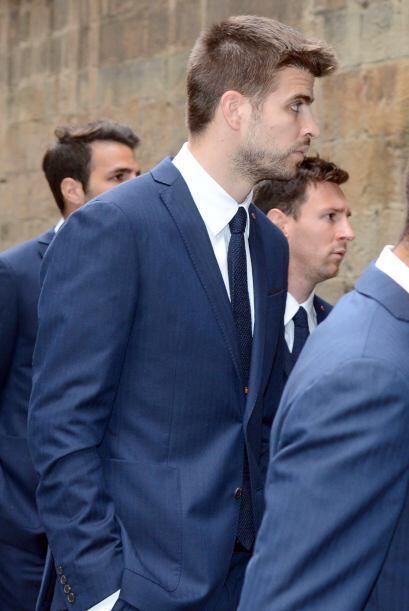 Gerard Piqué fue uno de los jugadores más afectados del equipo, luciendo...
