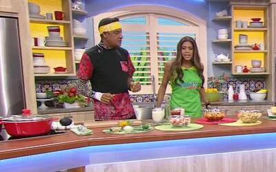 El chef Carlos preparó 'Pasta de Cangrejo con jugo de coco'