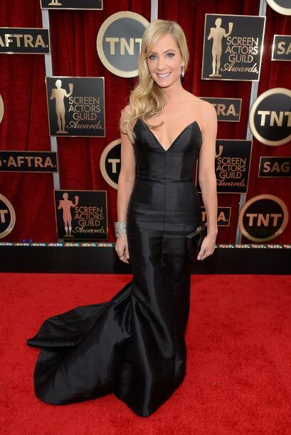 Joanne Froggatt de 'Downton Abbey', lista para la ceremonia.