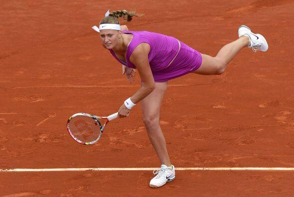 Kvitova se vio contra las cuerdas y en una gran reacción gan&oacu...