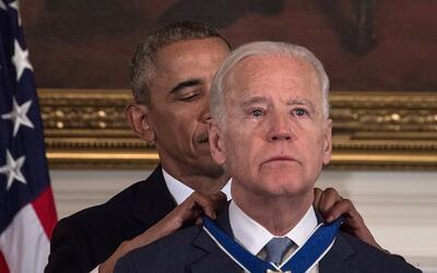 Barack Obama le otorga la Medalla Presidencial de la Libertad a Joe Biden