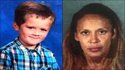 Nisha Burnett y su hijo West.