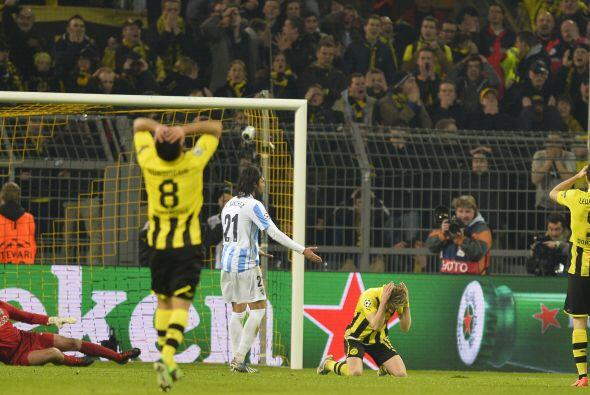 Borussia Dortmund desperdició varias oportunidades.