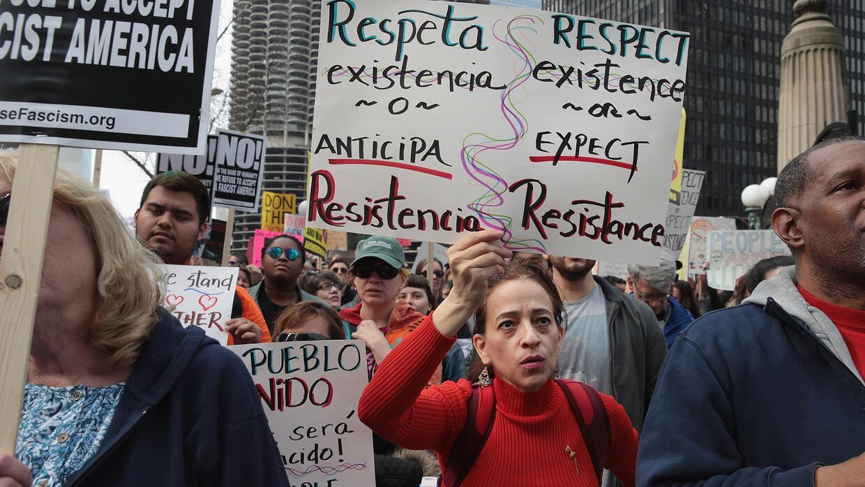 Activistas políticos exigen explicaciones a la administración Trump por...