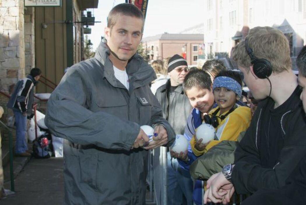 Firmando autógrafos en el festival de cine de Sundance.