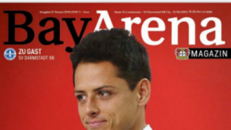 Javier Hernández en la revista BayArena