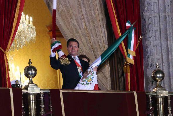 """""""El Grito"""" tiene lugar en el balcón principal del Palacio Nacional en la..."""