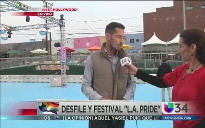 ¡Todo listo para el festival  L.A Pride!