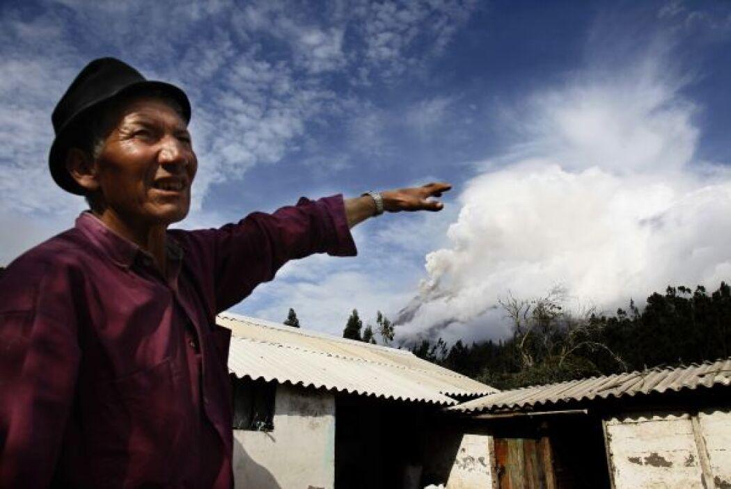 El volcán ya había tomado por sorpresa a los habitantes el mes pasado co...