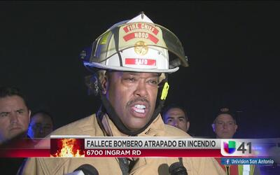 Bombero pierde la vida atrapado un incendio