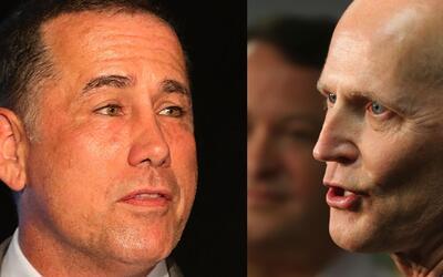 Philip Levine y Rick Scott en desacuerdo por el Zika