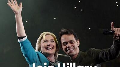 ¡Hillary Clinton apareció en el concierto de Marc Anthony!
