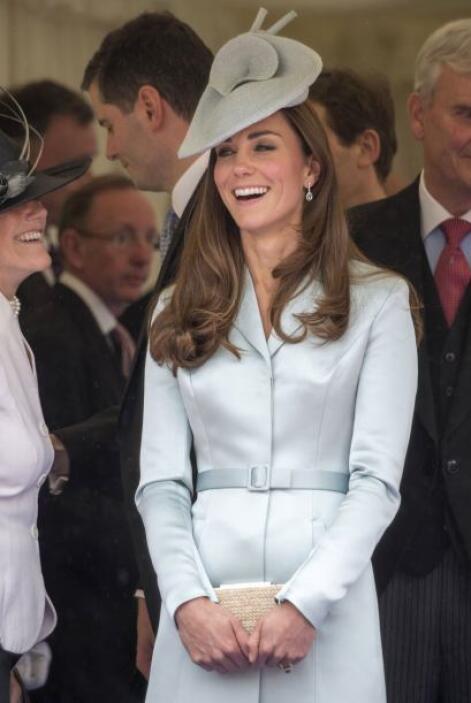Kate también recuperó su espigada figura en unos cuantos días y de inmed...