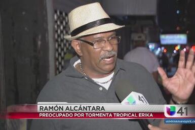 Dominicanos en NY alertas a paso de Erika
