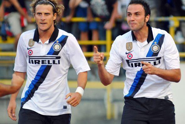 Pero la tarde comenzó de buena manera ya que Pazzini anotó...