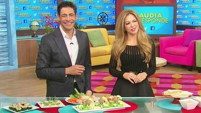 Claudia Molina mostró que puedes comer como botana saludablemente
