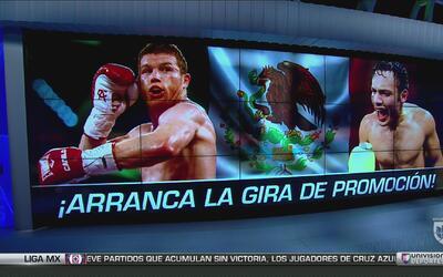Inicia en México la gira promocional del combate entre 'Canelo' y Chávez...