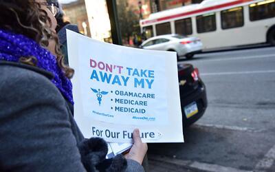 Protestas por el anuncio de derogación del Obamacare