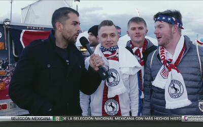 Aficionados estadounidenses se pronunciaron antes del partido de EEUU vs...