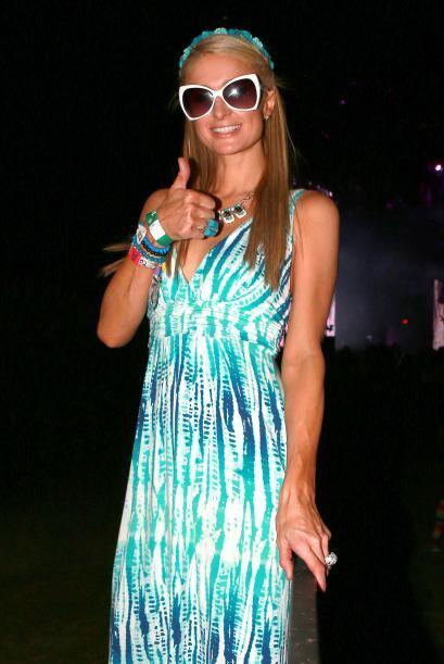 Paris Hilton la pasó increíble enfundada en un maxi vestid...