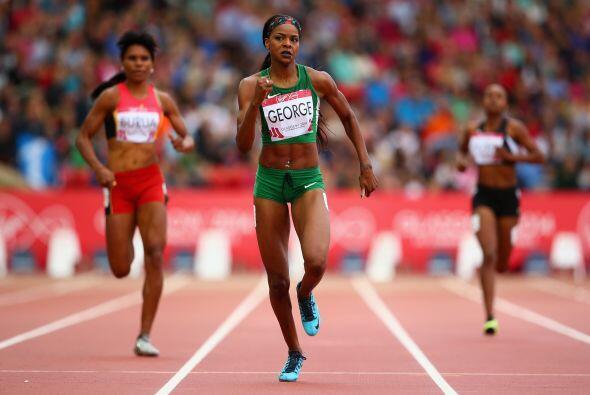 Regina George, atleta nigeriana quien compitió en Londres 2012.