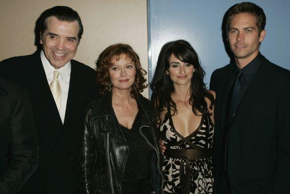 En el estreno con sus compañeros Chazz Palminteri, Susan Sarandon y Pené...