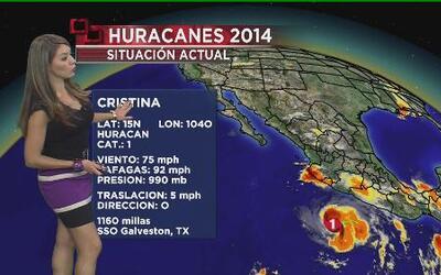 Cristina ya es huracán