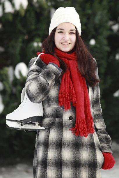 Para patinar sobre hielo. Procura estar bien cómoda y abrigada con unos...