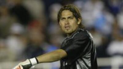 El ex portero del equipo de fútbol mexicano de la primera división Rayad...