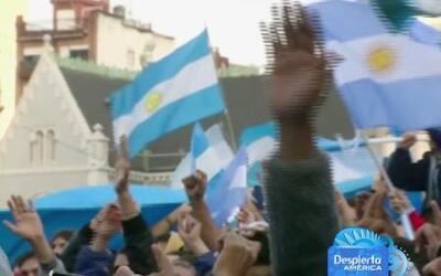Argentina está de fiesta por clasificar en la final de la Copa del Mundo