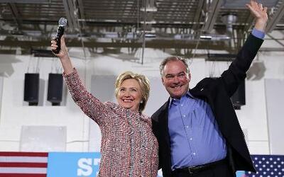 Hillary Clinton elige a Tim Kaine como su candidato a la vicepresidencia