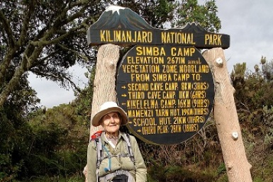Anne Lorimor en Kilimanjaro