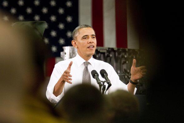 El presidente de EEUU, Barack Obama, emitió desde el Capitolio un...