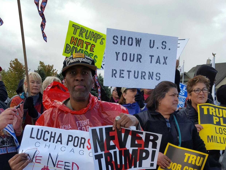 Protestas por visita de Donald Trump a Brolingbrook