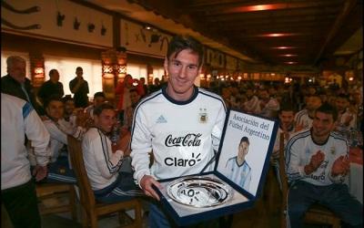 El argentino cumplió 100 juegos con la Albiceleste