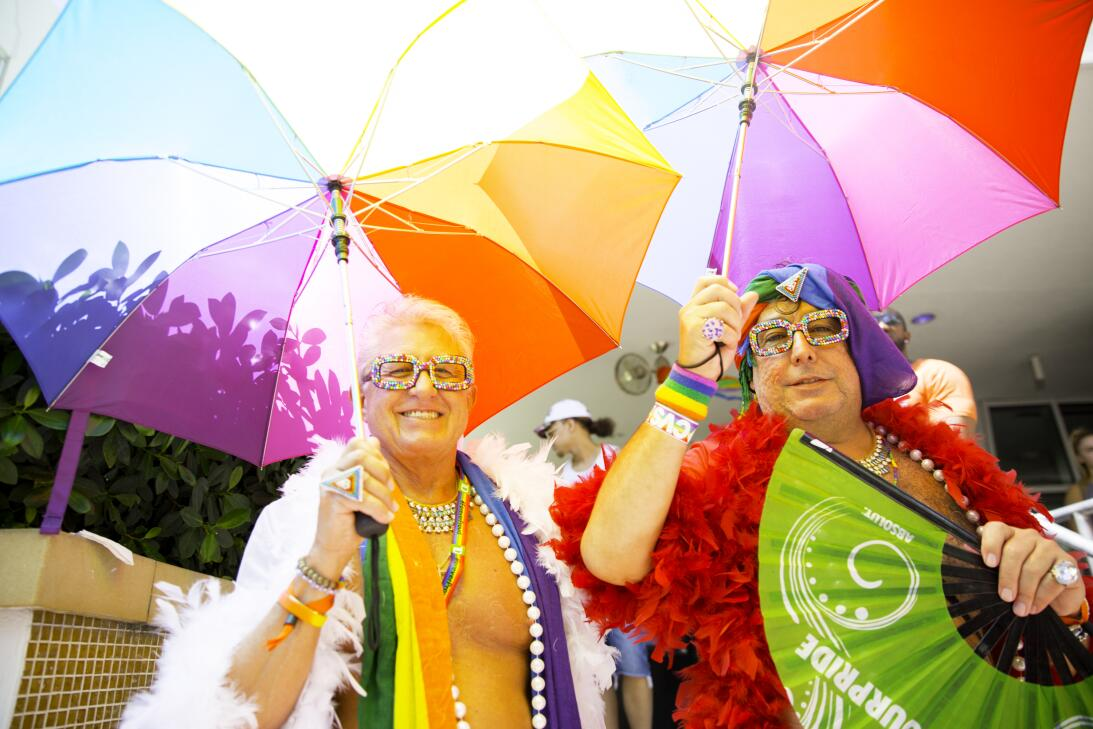 Este año, la celebración del orgullo Gay en Miami Beach in...