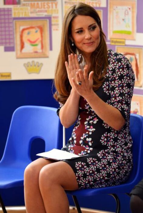 Kate Middleton es considerada una de las embarazadas mejor vestidas del...