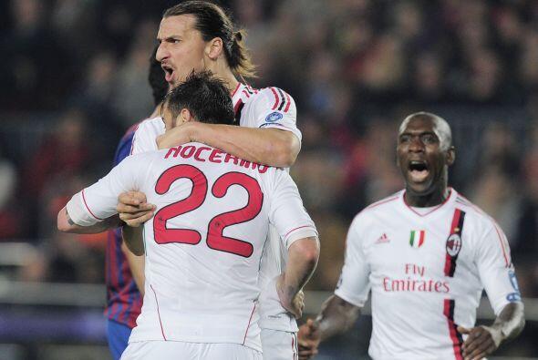 El Milan igualaba la eliminatoria y con este resultado estaba avanzando...