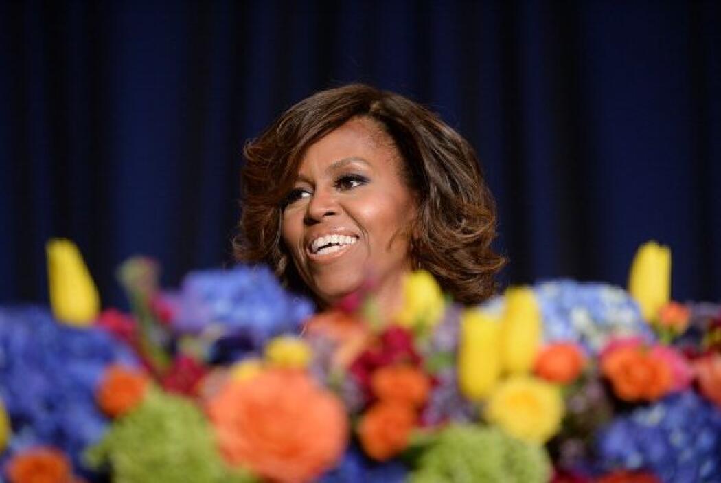 Michelle pasó una gran noche acompañando a su marido.