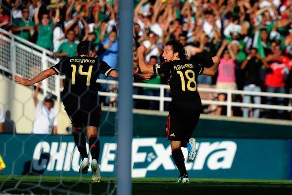 Guardado anotó el gol del empate, el cual le daba un nuevo respiro a Méx...