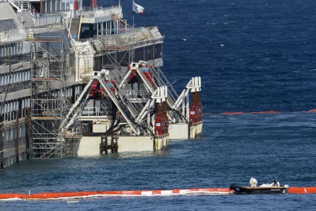 El Costa Concordia tenía, al momento del naufragio, un peso de 44.600 to...
