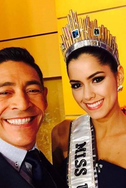 """""""¡Buenos días! ya tengo mi selfie con Paulina Vega, la nueva Miss Univer..."""