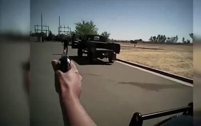 Imágenes del momento en el que la Policía de Fresno tirotea mortalmente...