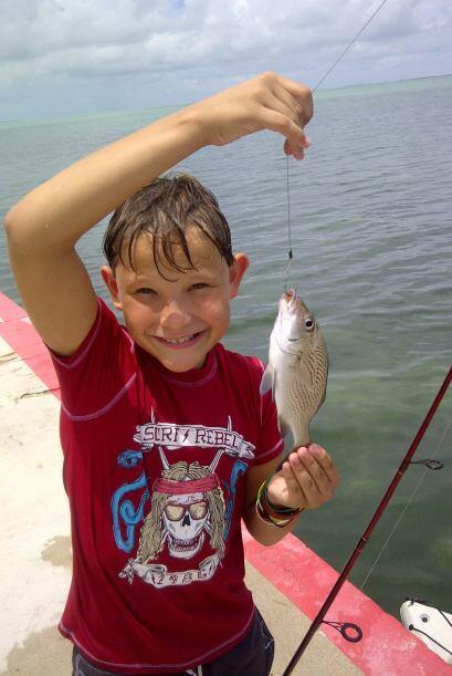 El pequeño Gianluca disfrutó de estas vacaciones.