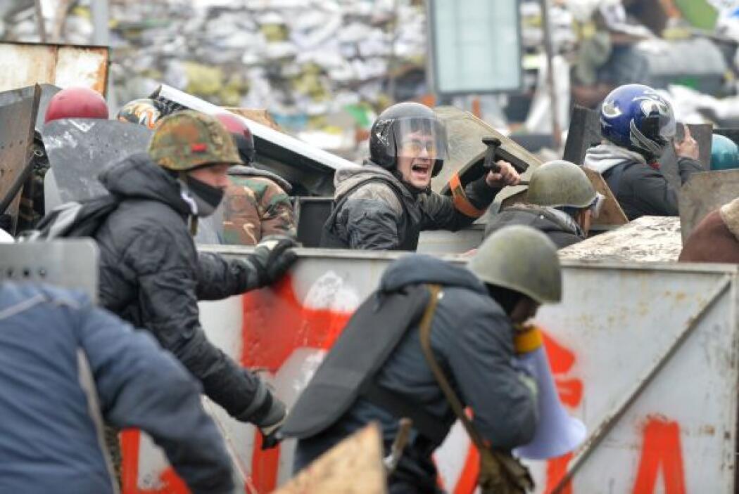 El 18 de febrero furiosos choques se registraron en Kiev que dejaron al...