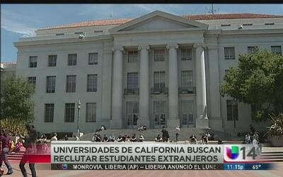 Universidades en California buscan más estudiantes extranjeros