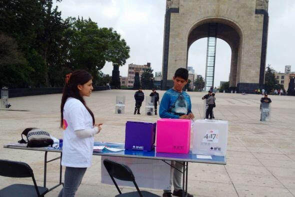 En la Ciudad de México las votaciones comenzaron en  un ambiente casi de...