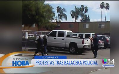 Protestas por la muerte de un hombre a manos de la policía de San Diego